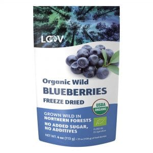 Freeze-dried organic blueberries for heavy metal removal deep inside our tissues