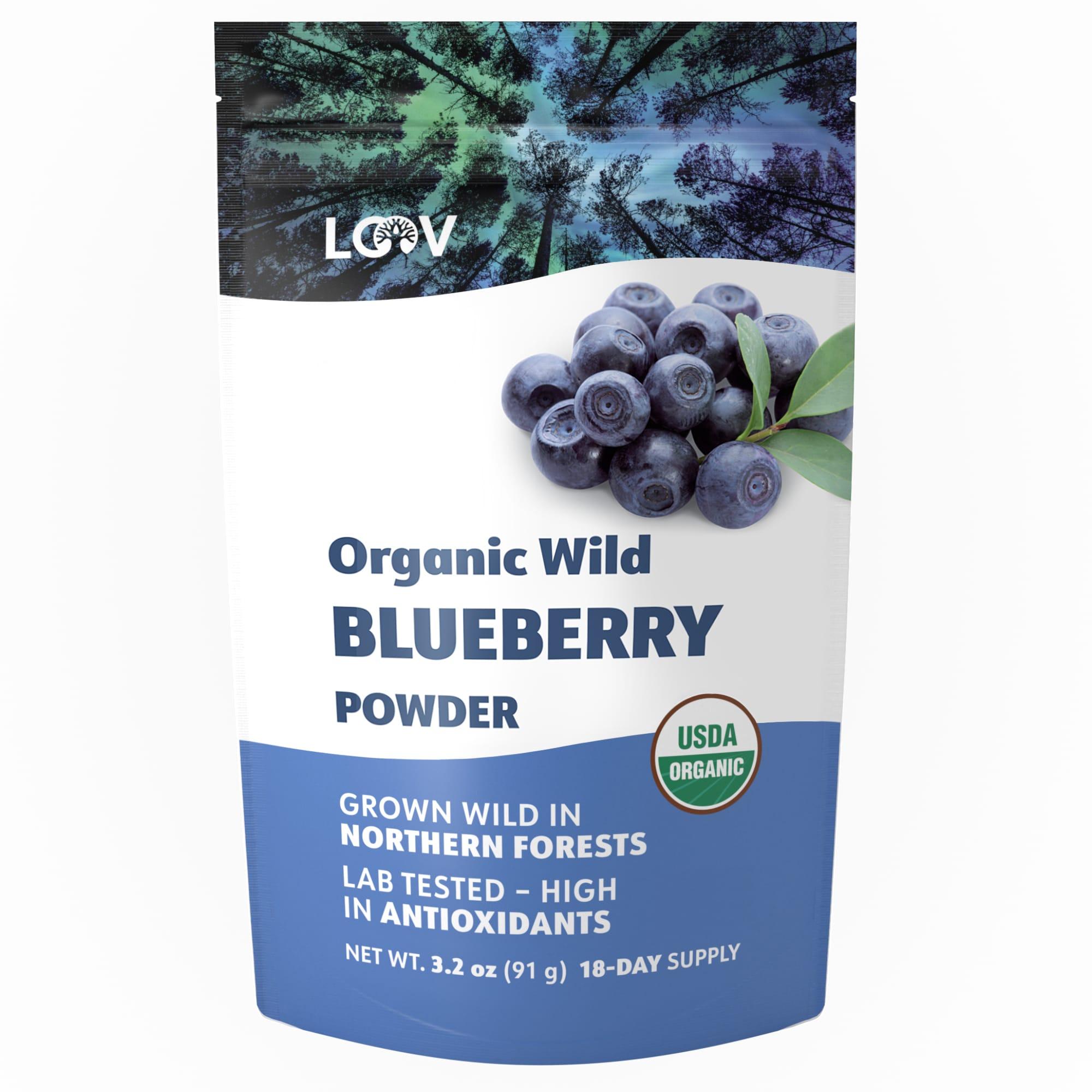 3.2 oz Dried organic Wild Blueberries