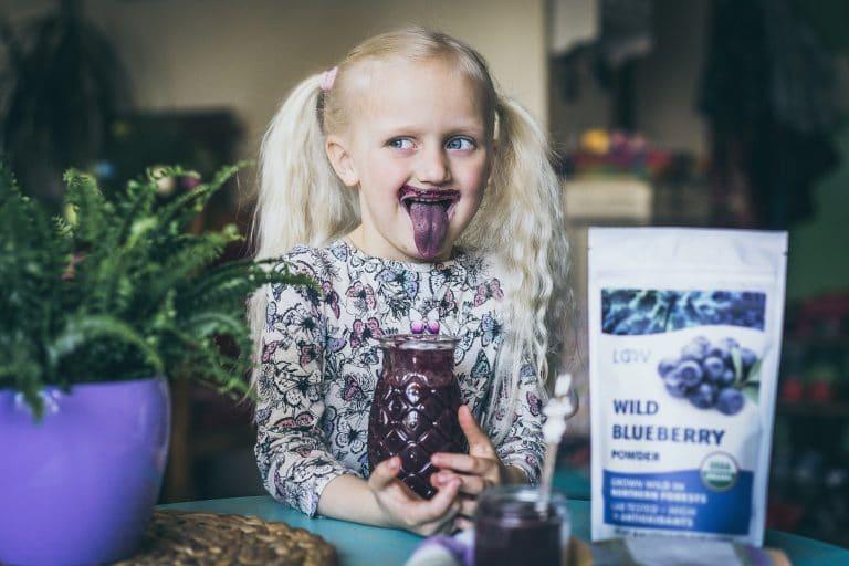 kids blueberry smoothie
