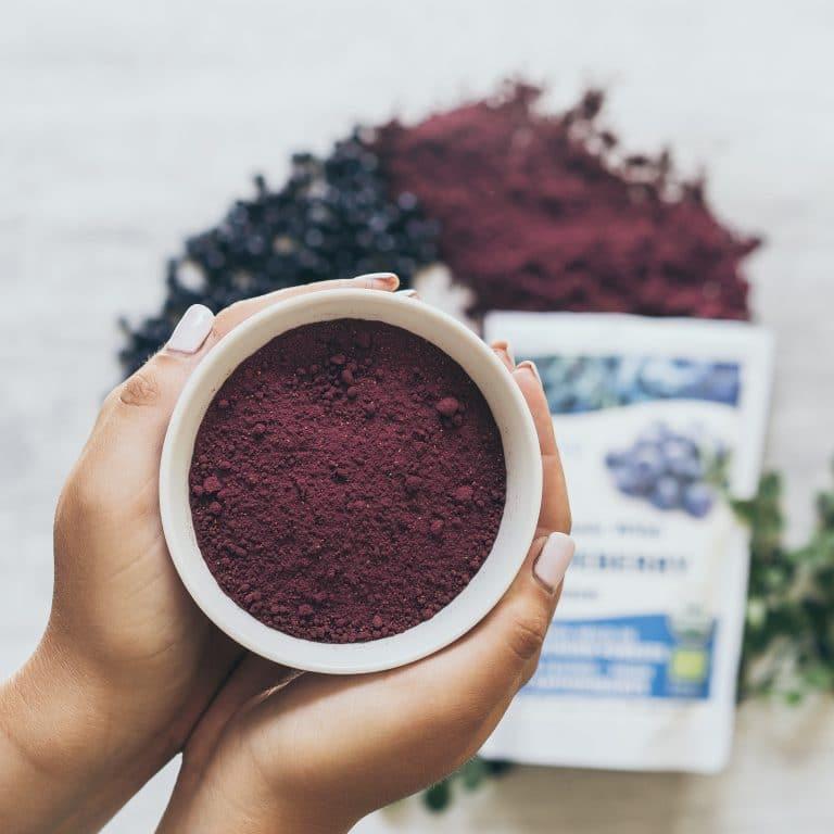 Powdered wild blueberries