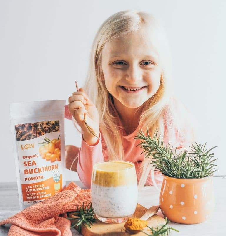 Delicious LOOV Sea Buckthorn Berry Powder from freeze-dried berries