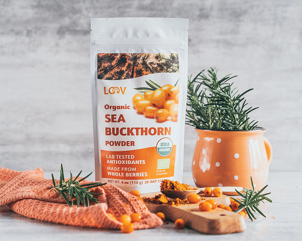 LOOV Sea Buckthorn Berry Powder from freeze-dried berries