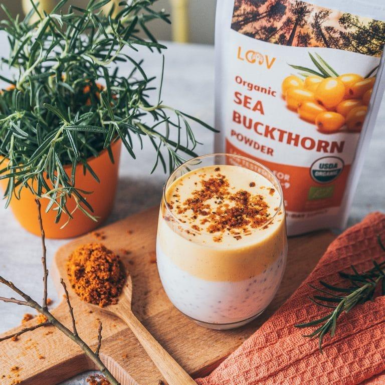 LOOV Sea buckthorn powder chia pudding breakfast recipe