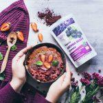 Aronia berry morning smoothie bowl recipe