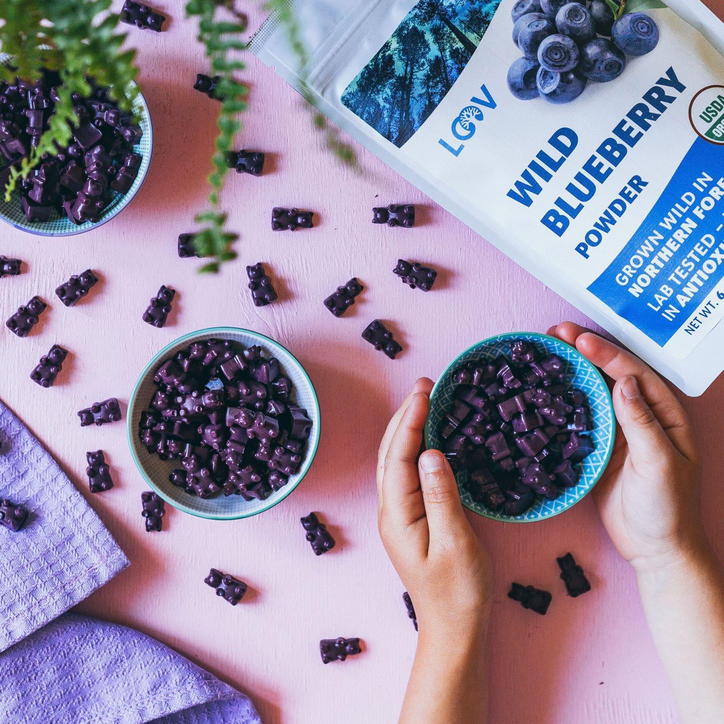 Blueberry treat gummie bears